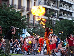 World Naked Bike Ride @ Thessaloniki (dranidis) Tags: bike fire olympus bicycles greece thessaloniki colourful 43 dimitris salonica photgraphers thessalonika saloniki salonika nakedbikeride fourthirds thessalonica  explored  e520  olympuse520 gimp26 dranidis dimitrisdranidis
