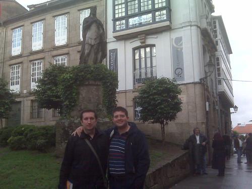 En Santiago con mi amigo Raúl
