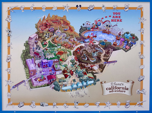 disneyland california map of park. Expansion Map for Disney#39;s
