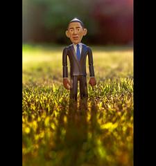 "US President Barack Obama Says ""Why Do I Cast Such A Long Shadow?"" (©Komatoes) Tags: 50mm us nikon bokeh president explore 80 obama barackobama barack d40 uspresidentbarackobama"