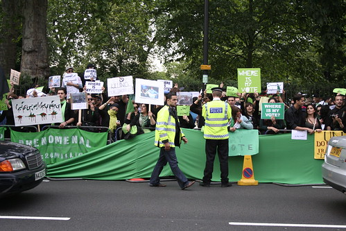 Iran Crisis protest, London