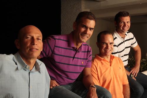 Abel Blanco, José Guillermo de Pool, Eduardo Hernández y Freddy González, directivos de Directive Soft de Venezuela.