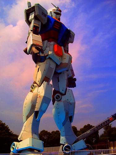 gundam landed at tokyo