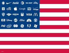 adbusters corporate flag