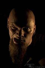 12 - /365   . . . We all have our demons (Drummy ™©) Tags: lighting pierced dark moody artistic bald morbid angry disturbing 365 drummy thevent dragonstixx schmobist notafriendlyimage