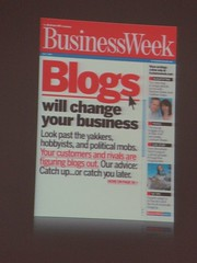 "Copertina di Business Week: ""Blogs will c..."