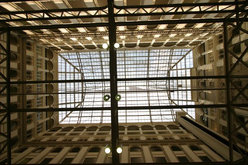 Looking up at the Old Post Office in D.C.