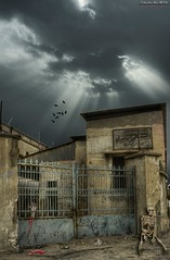 Ghost Hospital (Talal Al-Mtn) Tags: blue copyright birds yellow by clouds canon scary blood hand shot medicine kuwait 2009 department talal internal geat q8  450d canon450d  inkuwait almtn talalalmtn  bytalalalmtn ghosthospital bluegeat  departmentofinternalmedicine
