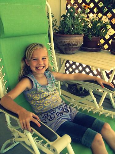 bria kicking the porch