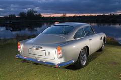 Aston Martin DB5 (dawsonimages) Tags: lighting sunset lake classiccar flash astonmartin jamesbond db5 embertonpark