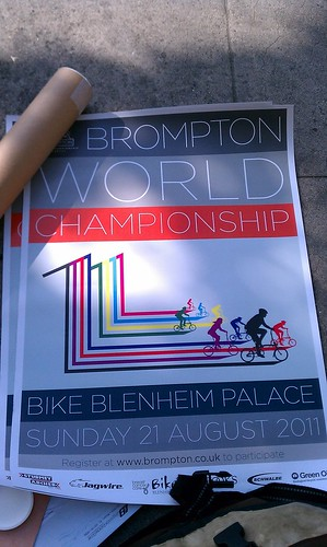 2011 Brompton World Championship poster at Flying Pigeon LA