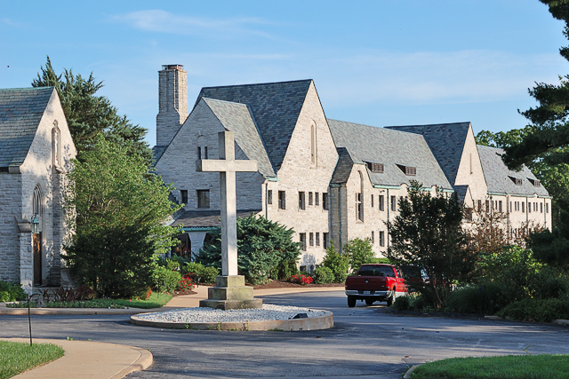 White House Jesuit Retreat, in Oakville, Missouri, USA - exterior