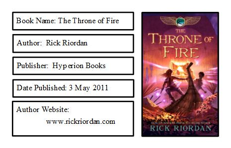 The Throne of Fire Bookplate