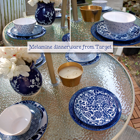 melamine dishes from target