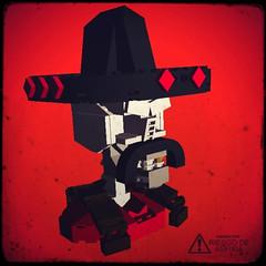 Lego Bandito Skull (Clay Morrow) Tags: skull lego bricks bandito bricksmith ldview