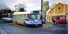 Beestons MIL4681 Sudbury (The original SimonB) Tags: film buses suffolk 2000 transport january scanned sudbury beestons