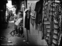 The Watching (AdreWine) Tags: bw india bombay bom mumbai fishmarket versovabeach versovavillage