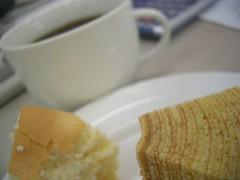 チーズケーキとバウムクーヘン