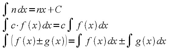 Basic Properties of Integrals