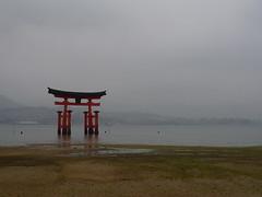 Floating Torii, Miyajima (Itsuku-Shima), Hiroshima, Japan (AJoStone) Tags: japan gate floating hiroshima miyajima torii itsukushima