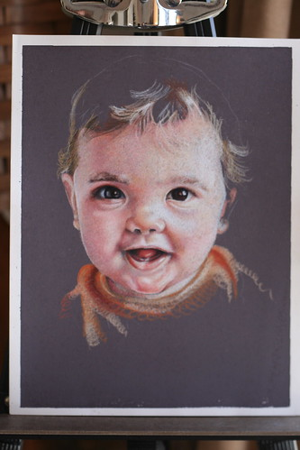 In progress colored pencil portrait of my son Emre.