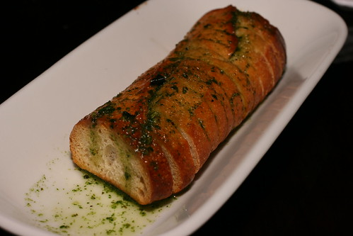 bread with cilantro pesto