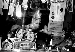 Watch repairs, Tenderloin, San Francisco (Dave Glass . foto) Tags: jeweler watchrepair sanfrancisco polkstreet minoltasr2 kodakplusx 1970 mustache tenderloin