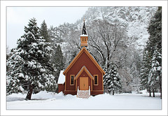 Yosemite Church (Oscar Vasquez Photography) Tags: snow church halfdome yosemitenationalpark elcapitan canon24105l yosemitewinter canon5dmarkii