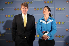 Attorney General Chris Koster and Misty May Treanor (century council) Tags: chris usa dc washington general may listen beach scenes chris council professional century general behind misty may athlete volleyball koster attorney ask learn treanor volleyball attorneys