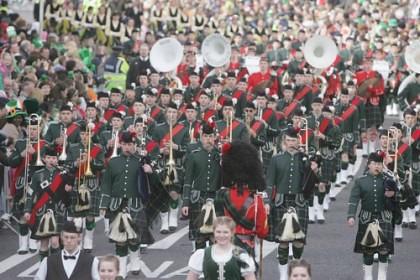 St Patricks Day Parade Kilts