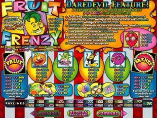 welcome bonus Fruit Frenzy slot game