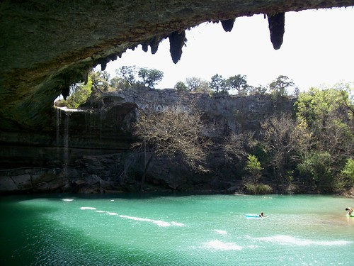 Natural swimming hole under the canopy of Hamilton Pool in Travis County - hamiltonpool32 by mlhradio