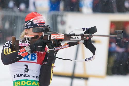 Ruhpolding - Magdalena Neuner mit starker Leistung