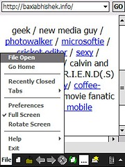 Web Viewer- File menu