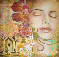 Childhood memory (monicatlink  ) Tags: woman art facepainting acrylicpainting womanhood