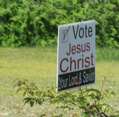 Vote Jesus Christ