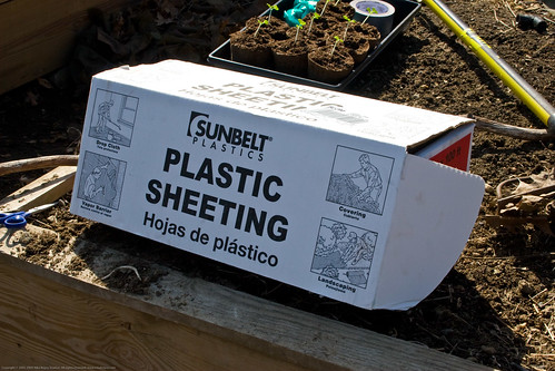 Humble Garden 2009: 4 mi plastic for cold frame