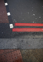 Street geometry, London (artisan7) Tags: road street urban pavement geometry kerb doubleyellowlines urbangeometry kerbstones doubleredlines streetgeometry