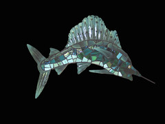 Silly Sailfish (Moe's Ache) Tags: fish mosaic whimsical cappi moesache moesachestudio