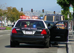 Traffic Stop (So Cal Metro) Tags: ford cops traffic sandiego police safety stop cop policecar officer interceptor sdpd copcar crownvictoria cityheights sandiegopolice sdpdset