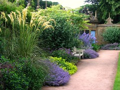 A Summer Garden Scene from Hardwick Hall in Derbyshire