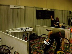 100_1527 (San Diego Custom Bicycle Show) Tags: show road bicycle san steel diego gear frame fixed custom 2009 lugs lugged sdcbs
