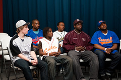 dc high school baseball players at press conference