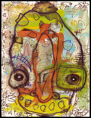 Let Your Nose Guide You (justinaerni) Tags: original party urban men art love monster pen ink dark painting real artwork women punk raw god native drawing folk outsider surrealism gothic emo pop believe expressionism horror creature lowbrow brut justinaerni