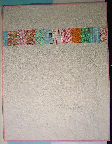 The Last Squares in Squares Quilt - Back
