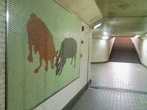 小千谷駅の地下道