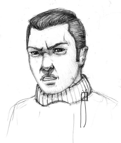 dibujo a lápiz de cara