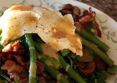 Warm Asparagus & Mushroom Salad