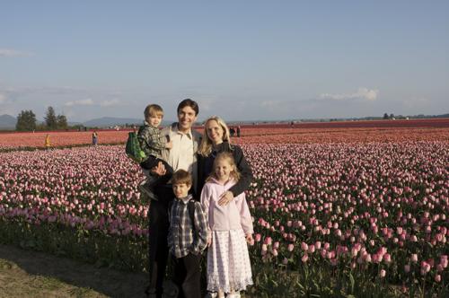 Family & Tulips