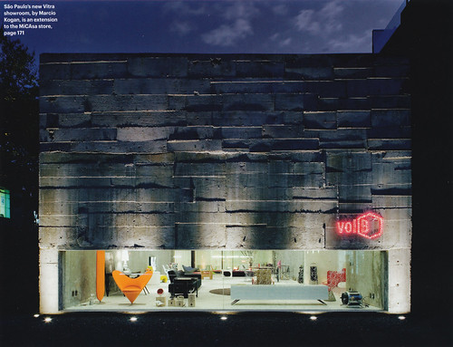 Marcio Kogan's Vitra showroom in Sao Paolo